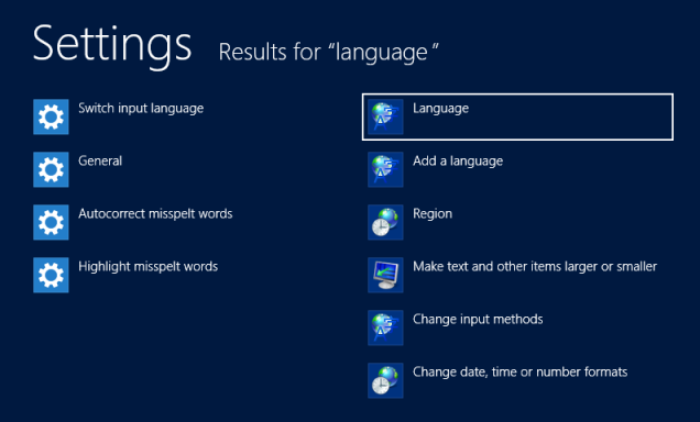 windows language