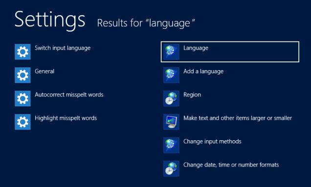 windows language
