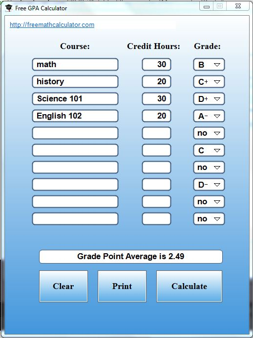 Make Life Easier With the Free GPA Calculator